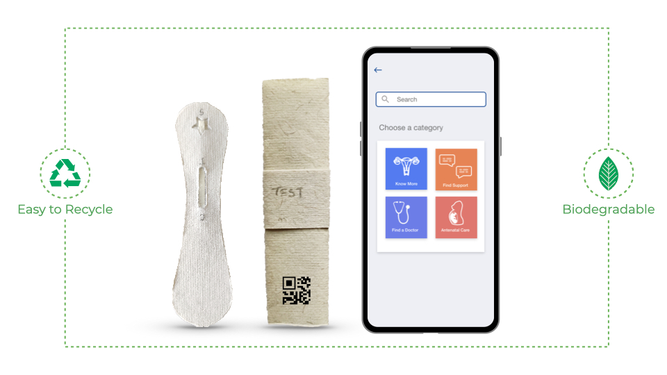 This image shows the product and the service together